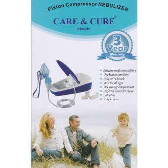 Care&Cure Classic Piston Compressor Nebulizer with 3 yearswarranty (Blue) Price Philippines