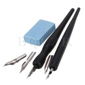 Cartoon Pen Holders Dip Pen Set of 2 Black - 2