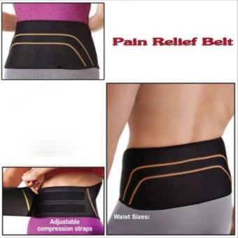Catwalk Men Women Copper Back Pro Lower Back Support Lumbar Compression Belt Closure - intl - 4