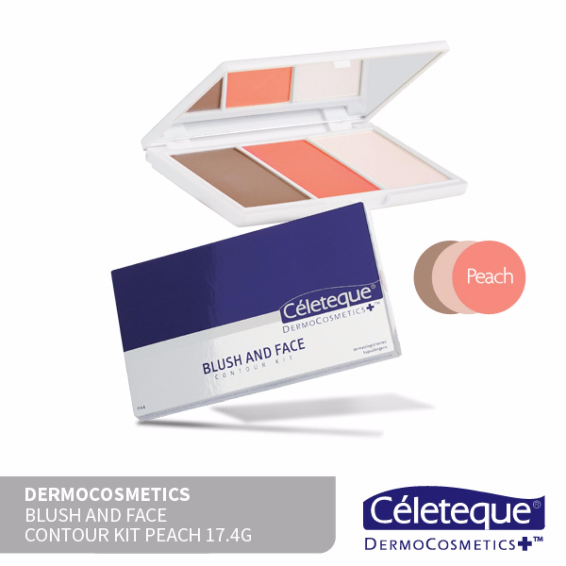 Céleteque Dermocosmetics Blush and Face Contour Kit 17.4g (Peach) Philippines