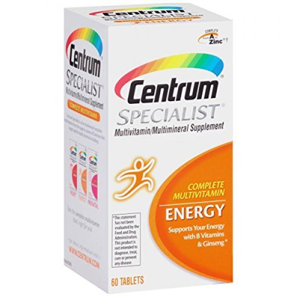 Centrum Specialist Energy Complete Multivitamin / Multimineral Supplement Tablet Vitamin D3 and Vitamin C (60 Count)