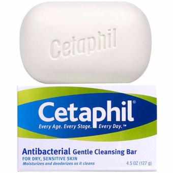 CETAPHIL GENTLE CLEANSING BAR 4.5oz / 126g ANTIBACTERIAL SOAP FREE