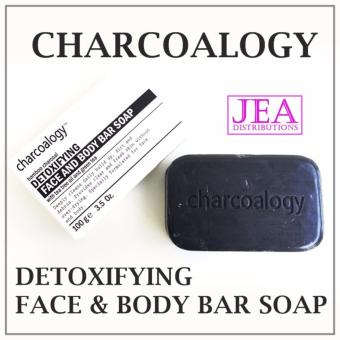 CHARCOALOGY Bamboo Charcoal Detox Face and Body Bar Soap With GreenTea Tree Oil