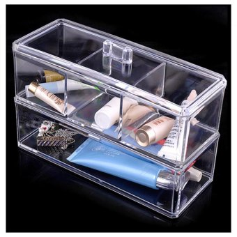 Clear Makeup case drawers Cosmetic Organizer Jewelry storageAcrylic cabinet Box Price Philippines