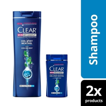 Clear Men Cool Sport Menthol Anti-Dandruff Shampoo 180ml with Free 40ml .