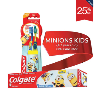 Colgate Minions Kids (2-5 Years Old) Oral Care Pack