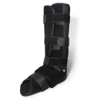 Comfortable Ankle Walking Foot Boot Sprain Support Walker BracesSupports Treatment for Ankle Fractures Rehabilitation,Black - intl