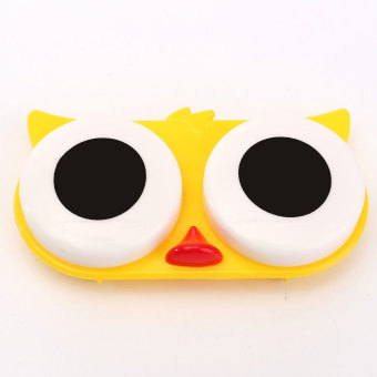 Contact Lens Box Case Cute Animal Portable Storage Soak Cleaning