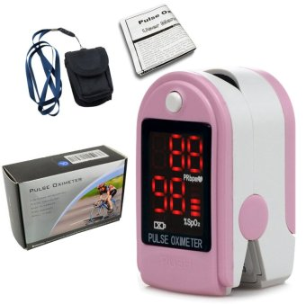CONTEC CMS50DL Fingertip Pulse Oximeter blood oxygen monitor Pink