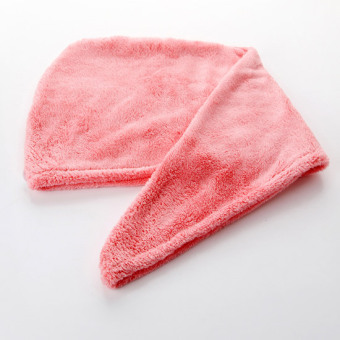 Coral velvet rub hair dry hair towel dry hair cap