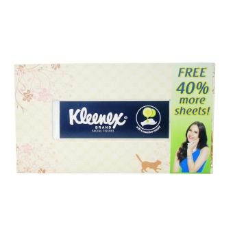 Cream Kleenex Facial Tissues w/ Cucumber Extract (100 sheets) 2's202200 w45 - 2
