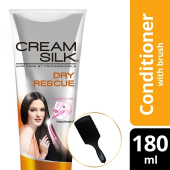 Cream Silk Triple Expert Rescue Dry Rescue Conditioner 180ml with Free Brush