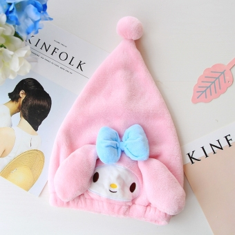 Cute adult children brush quick-drying towel dry hair cap