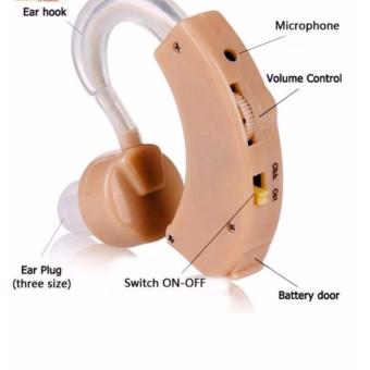 Cyber Sonic Sound Amplifier Adjustable Hearing Aid Assistance Kit (Beige)