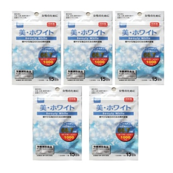 Daiso Beauty White (30 Tablets) Bundle of 5 with with FREE 1 Sachetof GLUTA LIPO Whitening and Slimming Juice