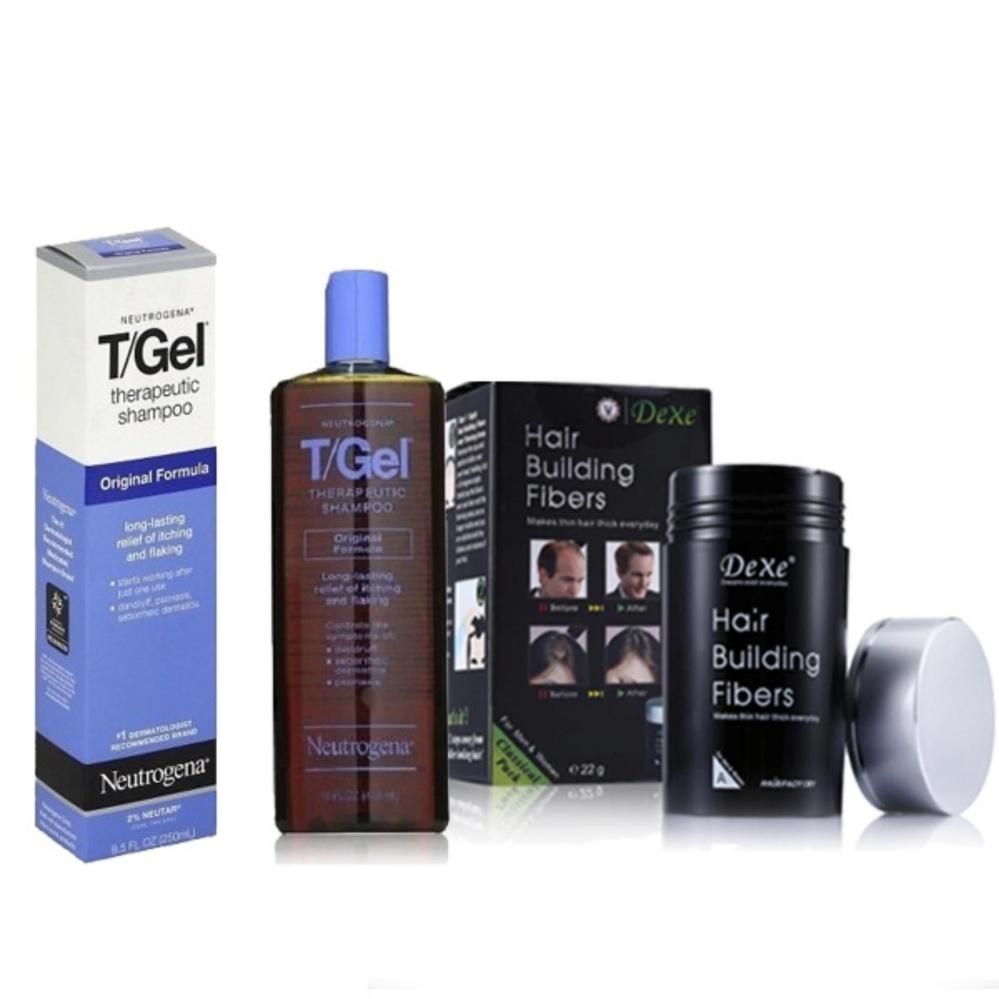 ... DEXE Hair Building Fibers (Black) & Neutrogena T/GelTherapeutic Shampoo - Original Formula ...