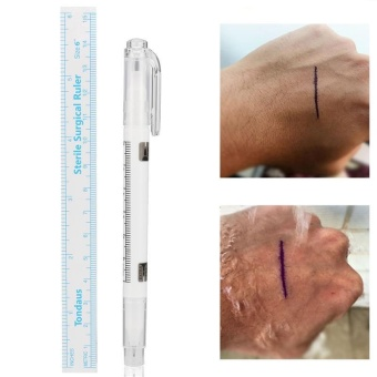 Diotem 3 pcs Microblading Surgical Skin Piercing Eyebrow Marker PenWith Ruler + Magic Eraser Brush Tattoo Remover Scribe Tool - intl - 3