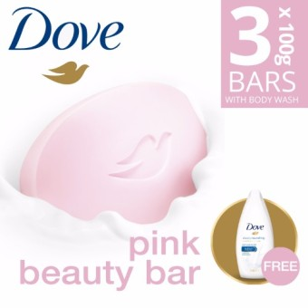 Dove Bar Soap Pink Beauty Triples Pack with Free Dove Body Wash 45ml Price Philippines