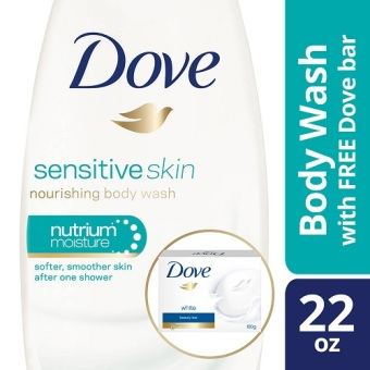 Dove Body Wash Sensitive Skin 22oz with Free Dove Bar White 4oz Price Philippines