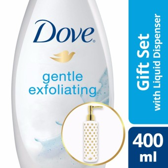 DOVE GENTLE EXFOLIATING BODY WASH 400ML WITH FREE PUMP
