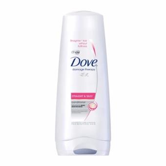 DOVE HAIR CONDITIONER STRAIGHT & SILKY 335ML . - 2