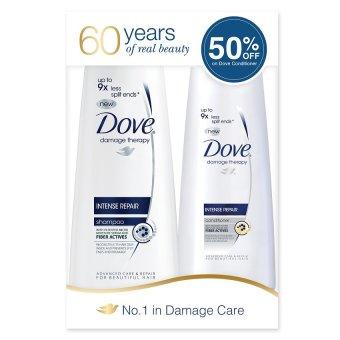 Dove Intense Repair Shampoo and Conditioner 180ml Regimen Pack . - 2