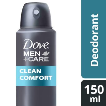 DOVE MEN DEODORANT SPRAY CLEAN COMFORT 150ML .