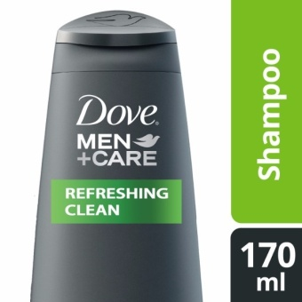 DOVE MEN SHAMPOO REFRESHING CLEAN 170ML .