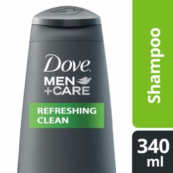 DOVE MEN SHAMPOO REFRESHING CLEAN 340ML .