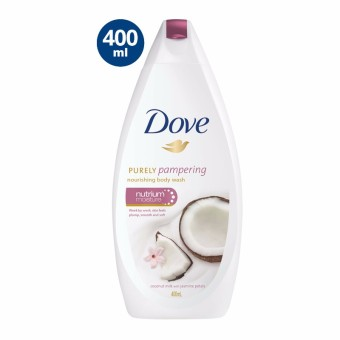 DOVE PURELY PAMPERING COCONUT MILK BODY WASH 400ML WITH FREE PUMP - 2