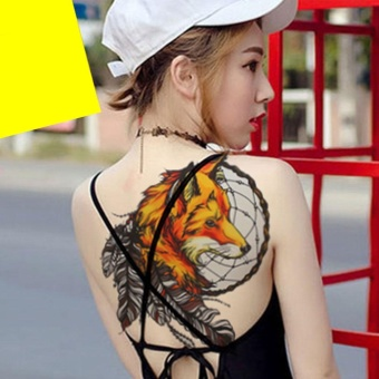 Dreamcatcher Waterproof Shelter Temporary Tattoo Stickers Fox Body Art - intl Price Philippines