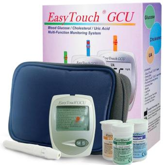 Easytouch GCU 3 in 1 kit set (with 25 strips for Glucose, 10 stripsfor Cholesterol and 25 strips for Uric Acid)