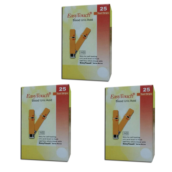 EasyTouch GCU Strips Blood Uric 25's Set of 3