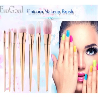 EsoGoal 7Pcs Professional Makeup Cosmetic Brush Set Foundation Powder Blushes (Rose Gold) - intl