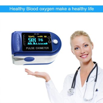EsoGoal Finger Pulse Oximeter Finger Oxygen Meter with Pulse RateMonitor LED Display, Blue - intl