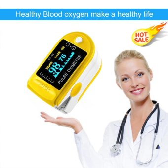 EsoGoal Fingertip Pulse Oximeter, Blood Oxygen Saturation Monitor with Pulse Rate Monitor LED Display, Yellow - intl