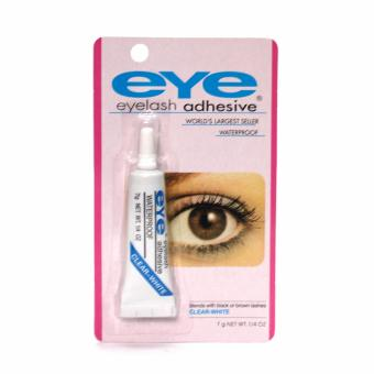 Eye Eyelash Adhesive Glue Waterproof False Eyelash (White&Blue)