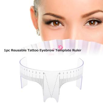 Eyebrow Ruler Prictice Stencil Shaper Ruler Reusable Eyebrows Stencil Template Tattoo Tool for Permanent Makeup - intl