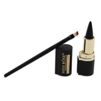 Eyeliner Brush And Lipstick Shape Black Long-lasting WaterproofCream Eyeliner gel Eye Liner Pen Pencil Makeup Cosmetic - intl - 2