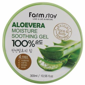 Farmstay 100% Aloe Vera Moisture Soothing Gel 300ml (AUTHENTIC)