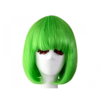 Fashion Cosplay Party Halloween Christmas Short Straight Hair WigsGreen