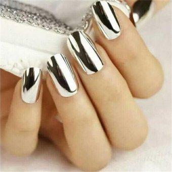 Fashion Mirror Glitter Powder Nail Art Pigment Chrome ManicureSilver - intl - 2