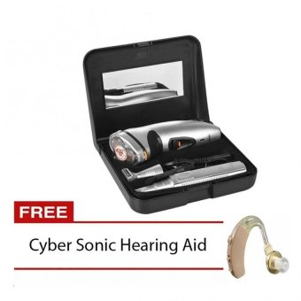 Gemei Rscx-5800 3 In 1 Shaver With Free Cyber Sonic Hearing AidPlus free 1 unique Phone ring stand Price Philippines