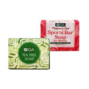 Giga Assorted Soap (Tea tree Oil/Sport Bar for Women) 100g Set of 2