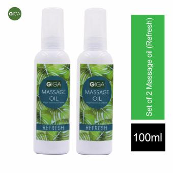 Giga Massage Oil Refresh 100ml Set of 2