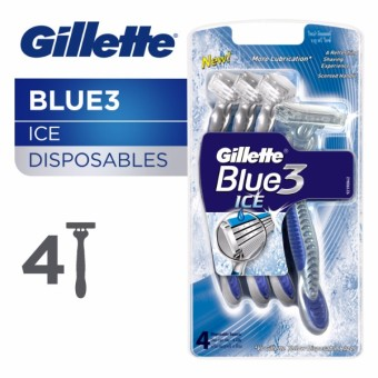 Gillette Blue3 Ice Disposable Razor, Pack of 4