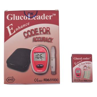 Glucoleader Enhance Blood Glucose Meter with Test Strip Box of 25