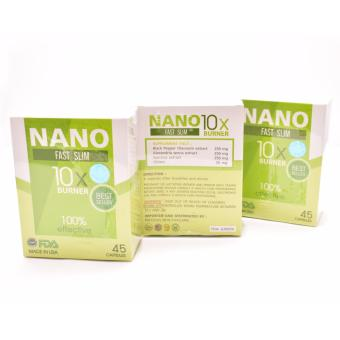 Gluta Nano Fast Slim 45 Capsules Fat Burner Box of 3