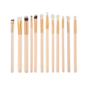 Graceful 12 set rosegold eye makeup brush Color of skin woolbrushes sets - intl