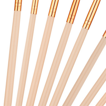 Graceful 12 set rosegold eye makeup brush Color of skin woolbrushes sets - intl - 3